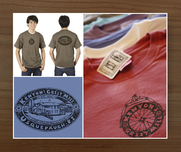 Kenyon's Grist Mill - T-Shirt; 14 Colors Available